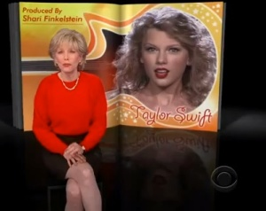 Two-year-old Taylor tales. (CBS)