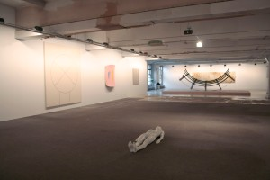 DSM-V installation view (clockwise from L): Joe Bradley, Ron Gorchov, Sergej Jensen, Andy Warhol, Dan Colen, Terence Koh