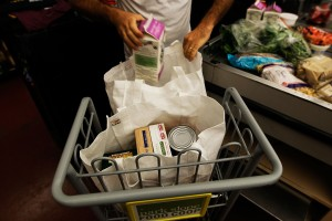 Reusable bags at the Park Slope Food Coop. (Getty)