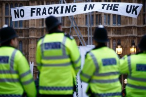 A 2012 fracking protest in the U.K. (Getty Images)
