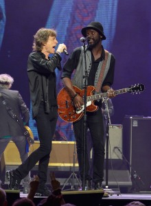Jagger and Gary Clarke. (Getty Images)