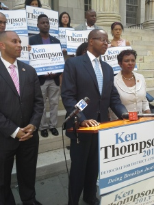 Kenneth Thompson receives the endorsement of Hakeem Jeffries and Yvette Clarke.
