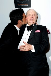 John Stamos plants one on Don Rickles.