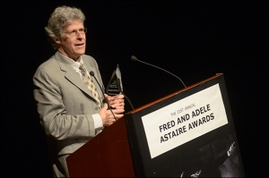 Ted Chapin accepts the Outstanding Achievement in the Preservation of Musical Theater award. (Monica Simoes)