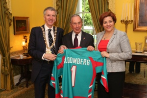Mayor Bloomberg, Christine Quinn and the Lord Mayor of Belfast. (Photo: nycmayorsoffice)