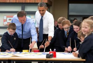 Cameron and Obama. (Courtesy the White House)