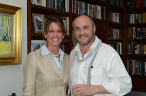 Narrative 4 Executive Director Lisa Consiglio and Colum McCann (Photo credit: James Higgins).