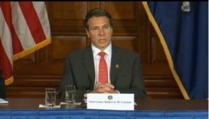 Gov. Andrew Cuomo, speaking today in Albany. (Photo: governor.ny.gov)