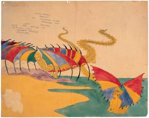 A mid-20th-century Henry Darger from the museum's collection. (Courtesy AFAM)