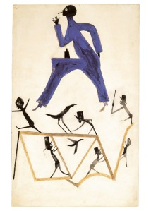 'Untitled,' ca. 1939–1942, by Bill Traylor. (Courtesy High Museum of Art)