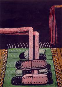 'Green Rug' (1976) by Guston. (Courtesy MoMA)