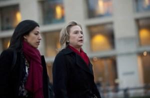 Huma Abedin and Hillary Clinton. (Photo: Saul Loeb/Getty)