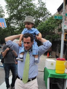 Anthony Weiner and his son, Jordan.