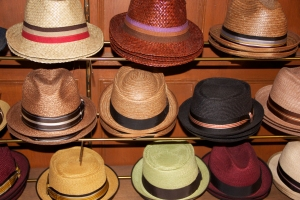 The hats at JJ Hat Center. (Jordyn Taylor)
