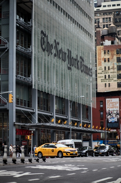 The New York Times building. (Photo credit: Amanda Cohen)