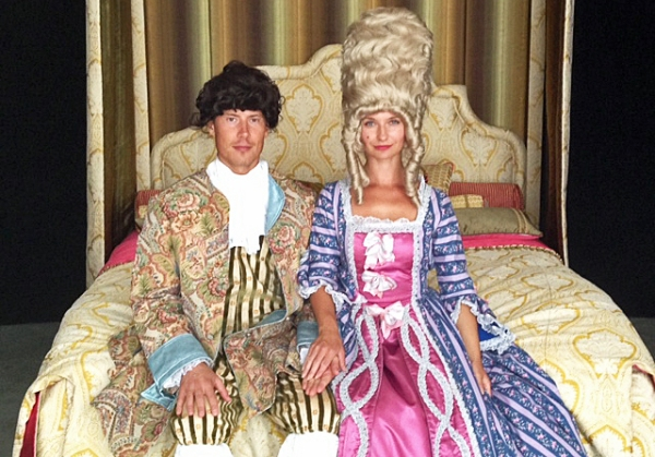 Suggested attire for sleeping in the Royal Bed.