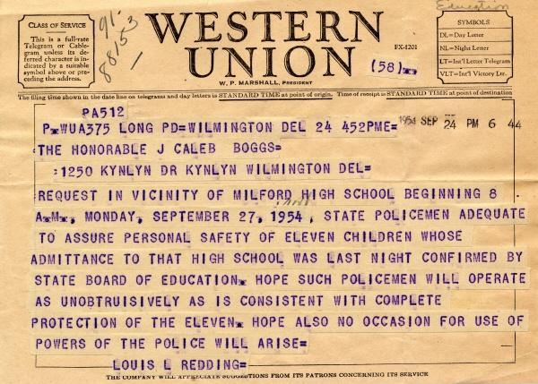 A Western Union telegram.