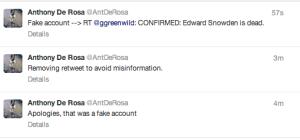 Screenshot of Anthony De Rosa's Twitter Feed.