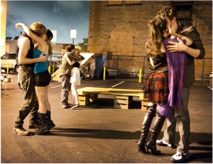 """A Shakespeare in the Parking Lot production of """"Love's Labor's Lost."""" Photo by Lee Wexler/Shakespeare in the Parking Lot."""