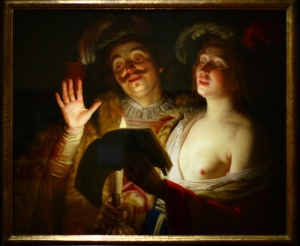 Gerrit van Honthorst, The Duet. (Courtesy Christie's)