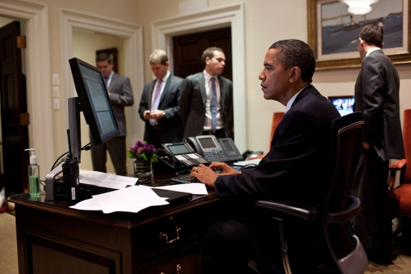 Serious stalking. (Pete Souza/The White House)