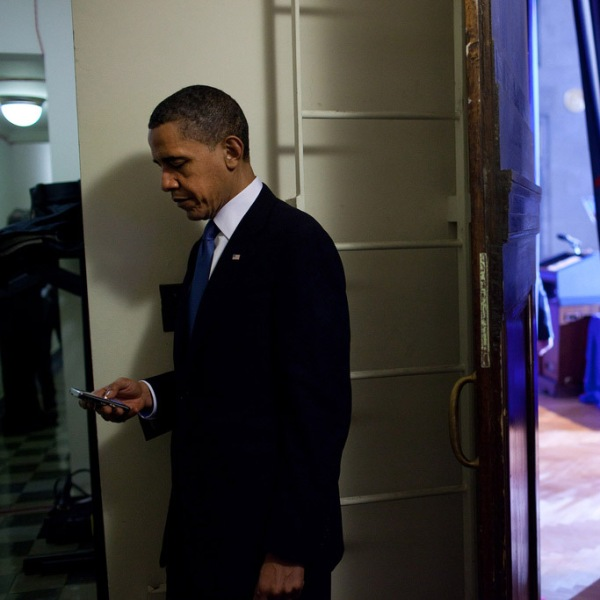 Just some quick stalking in between appointments. (Pete Souza/The White House)