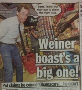 The Daily News worked a hot dog-themed photograph into Obamacare story.