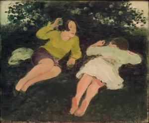 Albert York, 'Two Reclining Women in a Landscape,' 1967. (Courtesy Davis & Langdale)