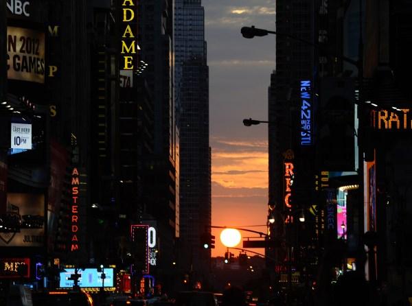 Manhattanhenge. (Getty)