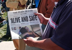 A rare print edition of the Plain Dealer (Getty Images)