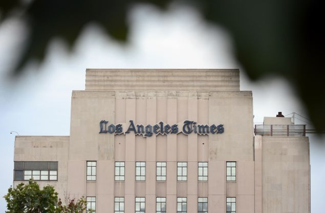 The Los Angeles Times is one of the many papers that Chicago Tribune writer Kevin Pang thinks would benefit from reissuing archived stories.(Frederic J. Brown/Getty Images)