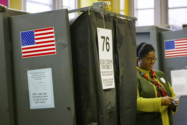 New York City voting booths. (Photo: Getty)