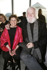 Goodman with John Baldessari. (Courtesy Patrick McMullan)