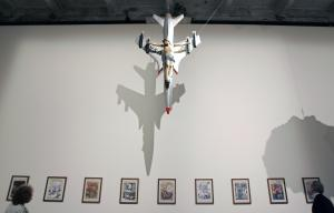 Ferrari's 'Western Civilization and Christianity' work, above, at the 2007 Venice Biennale. (Alberto Pizzoli/AFP/Getty Images)