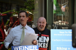 Anthony Weiner at his press conference today.