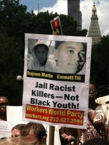 Hundreds gather at Union Square rally protesting the verdict in the trial of George Zimmerman.