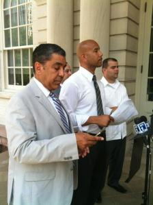 Ruben Diaz Jr. and Adriano Espaillat prepare to rail against Spitzer.