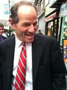 Eliot Spitzer joyously returns to the Bronx.