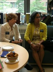 Elsie Thompson and Randi Weingarten talk education.