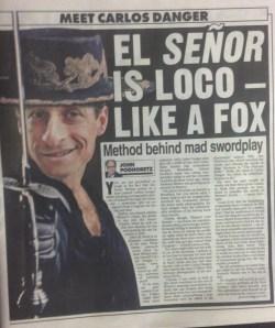 The New York Post's imagining of Mr. Danger.