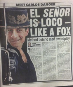 The New York Post imagines Carlos Danger.