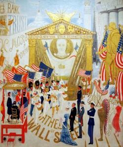 'Cathedrals of Wall Street' (1939), by Florine Stettheimer. (Metropolitan Museum of Art)