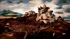 """Jan Mostaert, """"Discovery of America."""""""