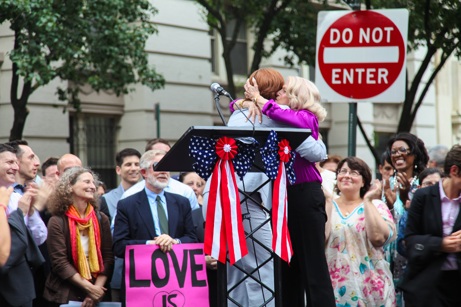 Speaker Quinn and Edie Windsor During Rally on Christopher Street. (Photo: Amanda Cohen)