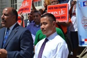 John Liu had nothing nice to say to Mr. Spitzer today.