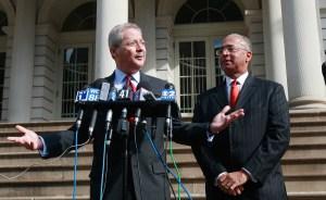 Freddy Ferrer and Bill Thompson back in 2008. (Photo: Mario Tama/Getty Image)