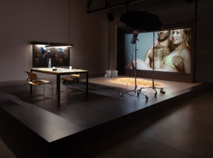 Installation view of Studio Pieta (King Kong Komplex). (Courtesy Andrea Rosen Gallery)