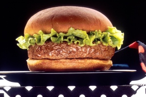 This is a hamburger.
