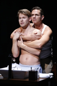 Randy Harrison and Paul Anthony Stewart in 'Harbor.' (Photo by Carol Rosegg)