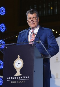 Keith Hernandez speaks at Grand Central Terminal's 100th anniversary.